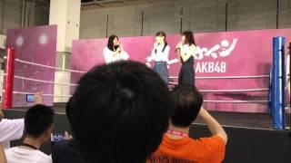 5月14日荻野由佳、西潟茉莉奈、北原里英ステージです。 3列目からとっていますので少し観にくい部分もございます。
