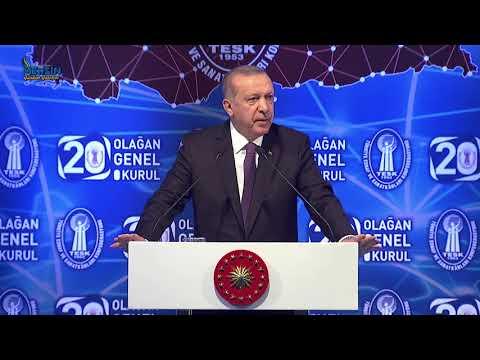 Cumhurbaşkanı Recep Tayyip ERDOĞAN TESK Genel Kurulu (Grand Ankara Otel)