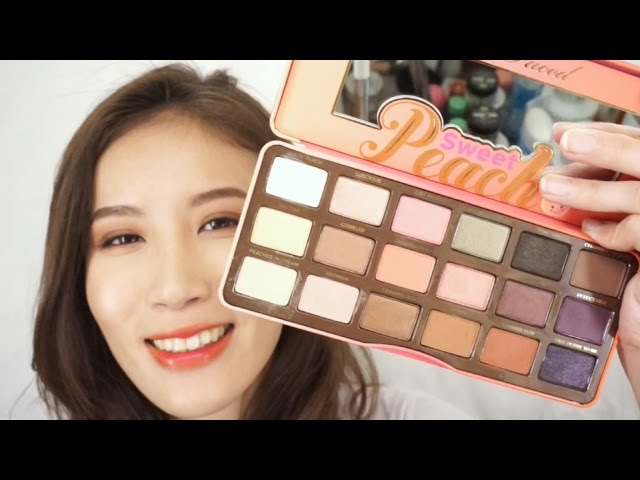 Celeste Wu 大沛 | Too Faced Sweet Peach Palette試色 & 給新手的蜜桃色眼妝