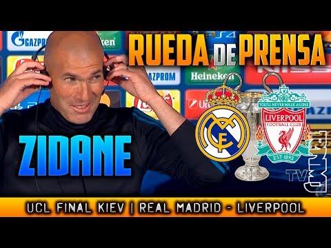 RUEDA DE PRENSA de ZIDANE Previa FINAL Champions