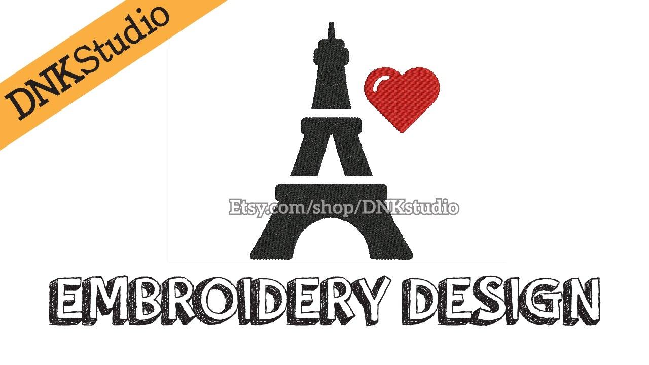Paris Eiffel Tower Embroidery Design Youtube