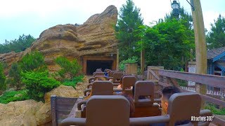 [4K] High Speed Big Grizzly Coaster Ride - Hong Kong Disneyland