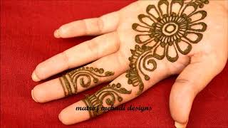 Karwa chauth Mehndi Designs For Hands-Easy Mehndi Designs For Hands