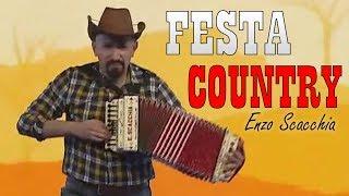 FESTA COUNTRY,Enzo Scacchia in diretta Tv CANALE ITALIA.Ballo di gruppo Bluegrass Dance Organetto