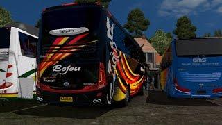 ets2 busmod indonesia - Po. BEJEU Scania SHD Meliuk liuk  | jakarta - Cikampek
