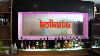 H2o Designs Water Fall Back Bar With Logo Kolkuta Lounge Birmingham