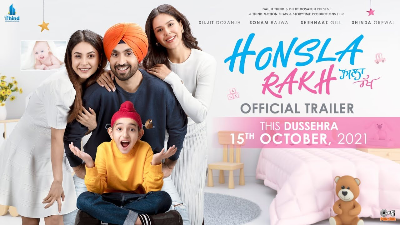 Download Honsla Rakh (Official Trailer) Diljit Dosanjh, Sonam Bajwa, Shehnaaz Gill, Shinda Grewal | 15 OCT