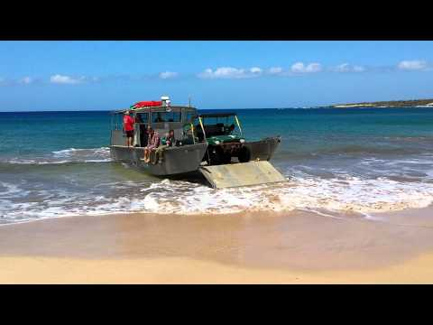 Unloading at Kahoolawe