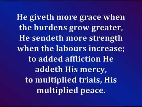 He Giveth More Grace (With Lyrics)