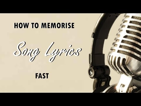 JS #12: HOW TO MEMORIZE SONG LYRICS FAST!!