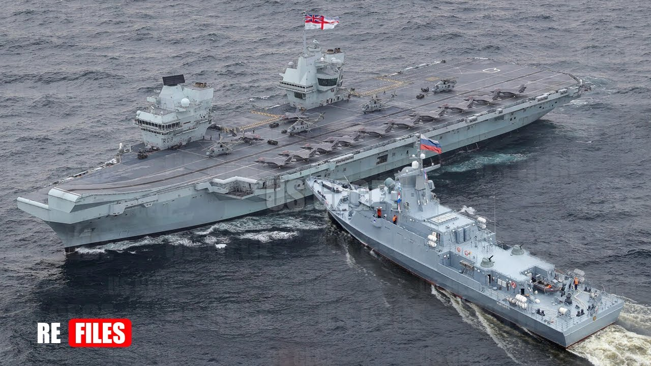 Download Brutal Attack, UK Aircraft Carrier intercepts by Two Russian spy ship in North Scotland