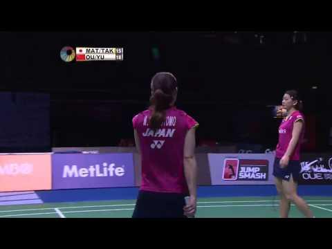 M. Matsutomo/A. Takahashi vs Ou D.N/Yu X.H | WD F Match 2 - OUE Singapore Open 2015