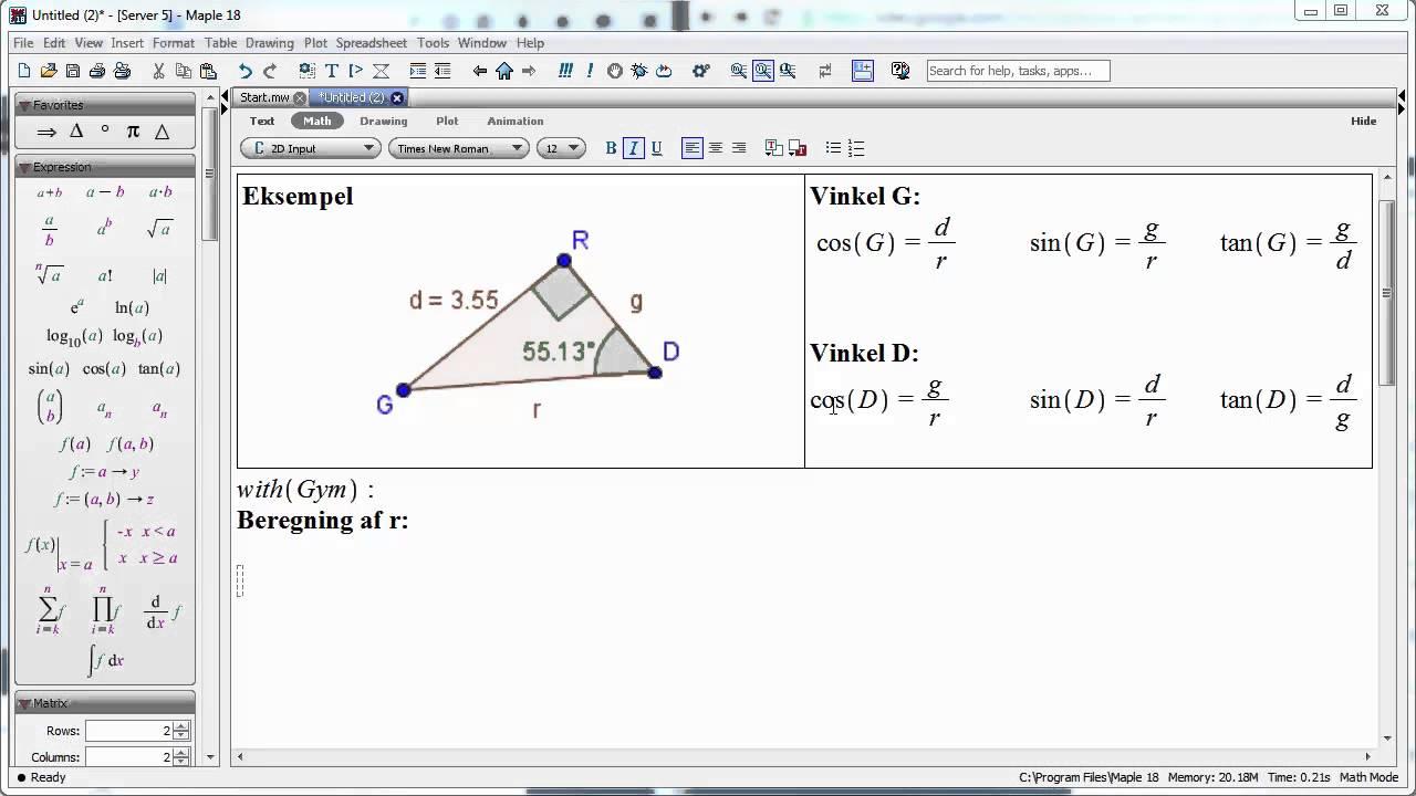 trekant med to menn Fagernes