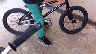 9 years old Jocki on his bmx Bike & Skatehalle Köln Kalk , wicked woods and helmtrails