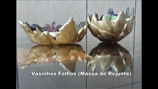 Vasinhos de Folhas (massa de Rejunte)