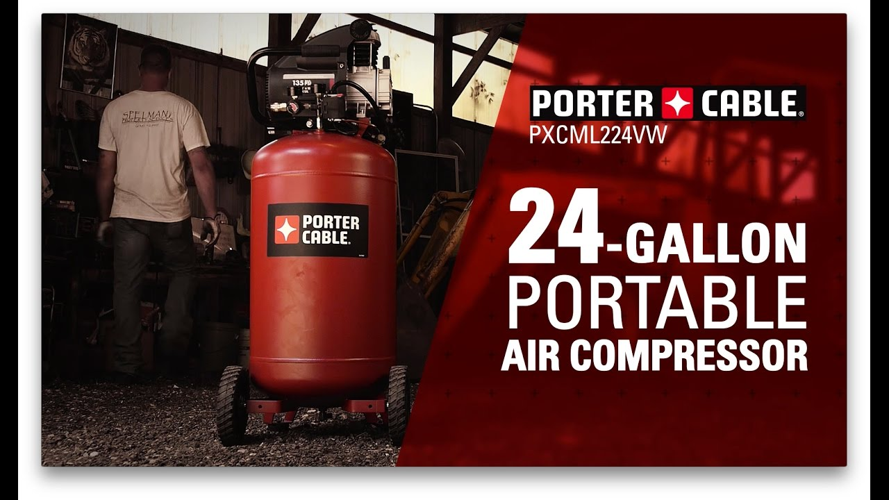 maxresdefault porter cable 24 gallon air compressor youtube  at soozxer.org