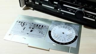 Радиоприёмник Интеграл - редкий экземпляр с картой часовых поясов. Сделано в СССР