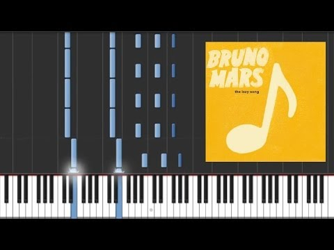The Lazy Song - Bruno Mars [Piano Tutorial]