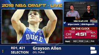 Utah Jazz Select Grayson Allen From Duke With Pick #21 In 1st Round Of 2018 NBA Draft