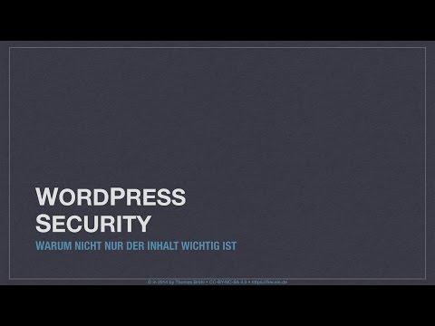 WordPress Security Teil I