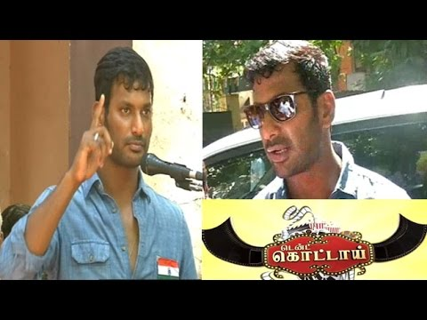 Actor Vishal speech about Independence day in Thiru Vi Ka Boy Hir Sec School in Anna Nagar,Chennai