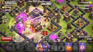 Clash Of Clans|Th9 best Farming and Pushing Attack|Effective even without Heros