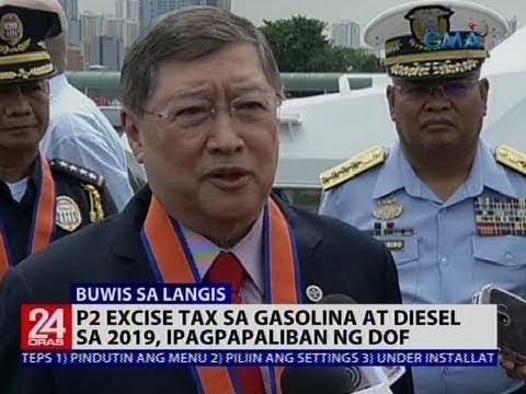 24 Oras: P2 excise tax sa gasolina at diesel sa 2019, ipagpapaliban ng DOF