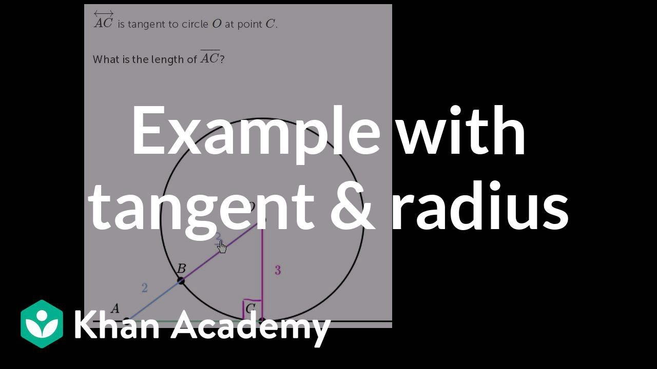 Tangents of circles problem (example 3) (video) | Khan Academy