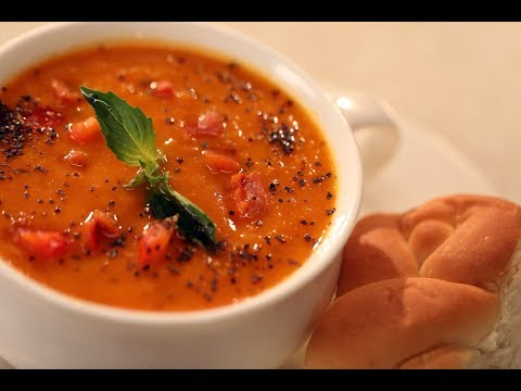 Roasted Bell Pepper And Tomato Soup | Family Food Tales With Mrs Alyona Kapoor