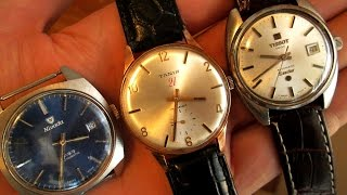 The Best Swiss Made Affordable Under $100 and $200 Dress Watches : Nivada, Tanis and Tissot Seastar