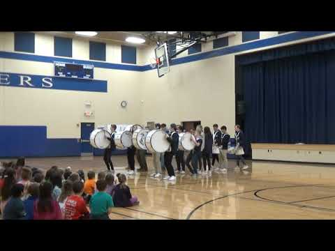 North High Drum Line Visits Lake Country Academy