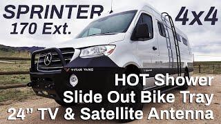 FULL TOUR - Mercedes Sprinter 170 Ext 4x4 - The BIGGEST, BADDEST Camper Van You Can Get!