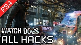Watch Dogs ★ All Hacks / Hacking Skills Showcase 【1080p HD】
