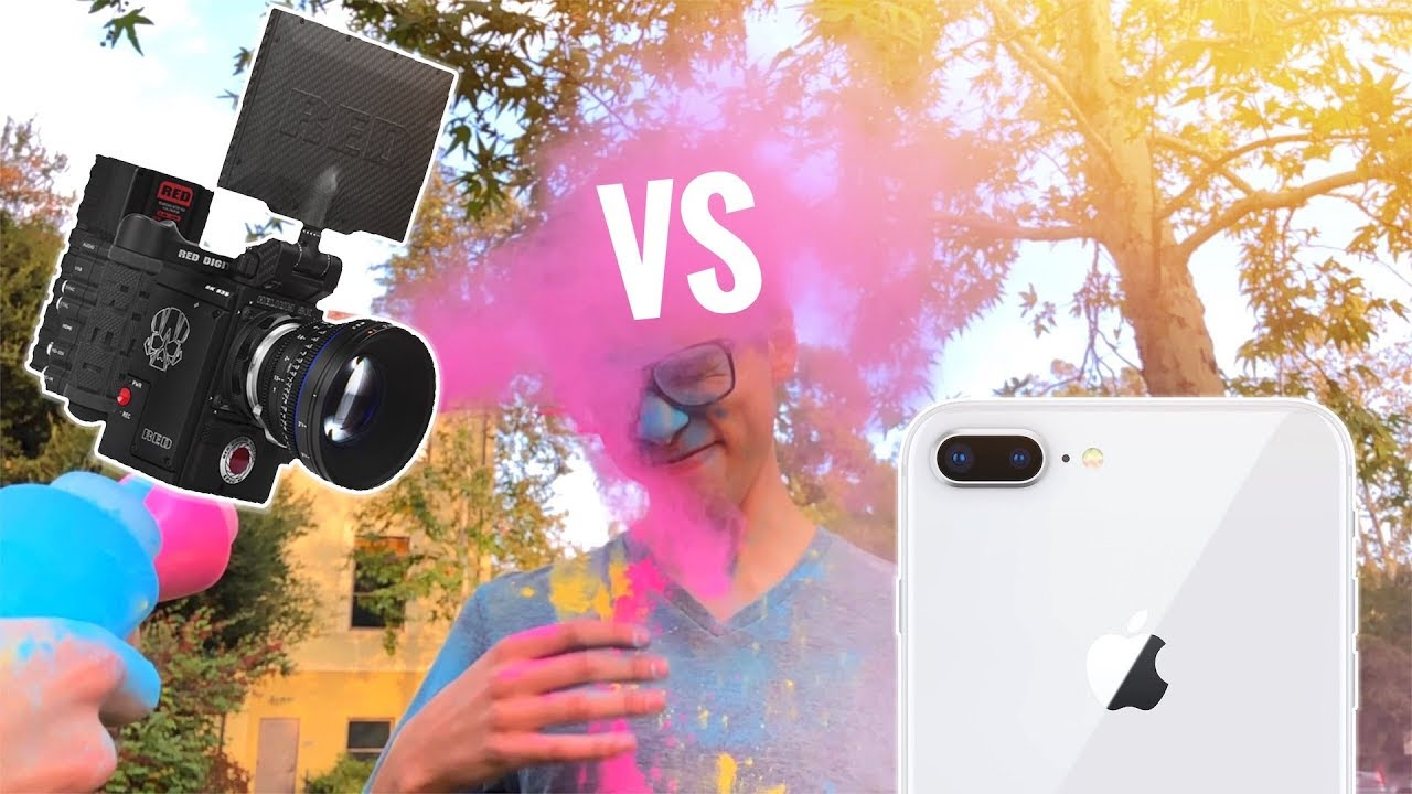 iPhone 8 Slow Motion vs $30,000 RED Camera - YouTube