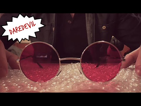 ASMR: Matt Murdock/Daredevil Glasses w/ Bubble Wrap!