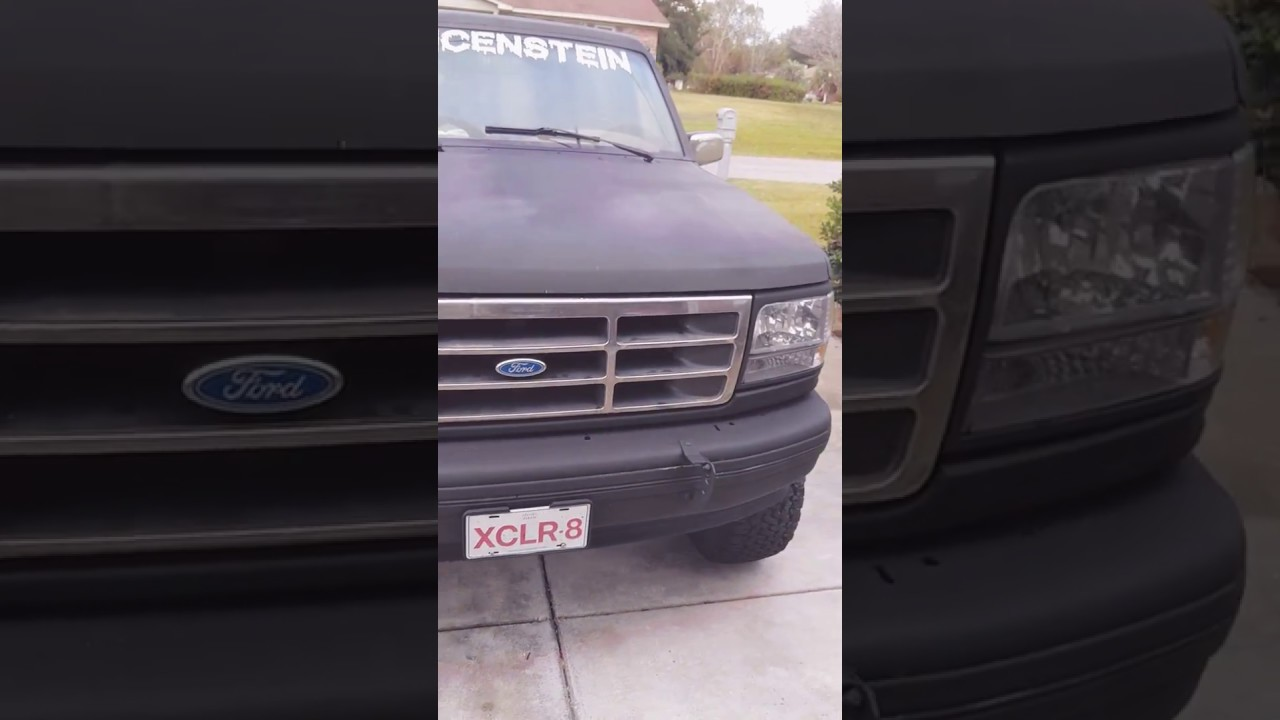 1996 Ford Bronco Full Size 351w 58l Diy Paint Job Youtube Jobs