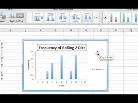 Dice Rolling Simulation using Excel