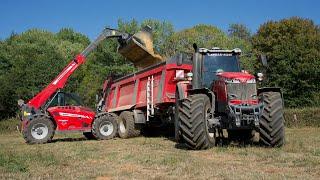 New Massey Ferguson 8730 S a l'épandage de Marne par l'ETA JULLIARD