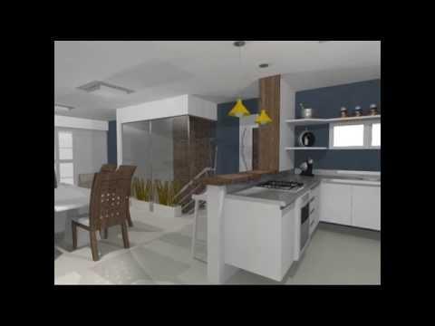 Salas de tv e jantar integradas com cozinha americana   youtube