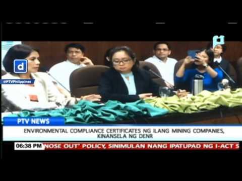 Environmental Compliance Certificates ng ilang mining companies, kinansela ng DENR