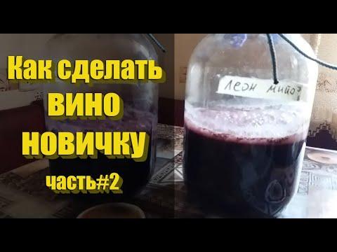 Пошаговое приготовление сухого вина из винограда Леон Мийо и Маршал Фош! Часть#2!