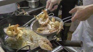 Fish Cooking Great Skills. Singapore Street Food