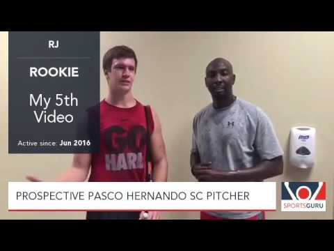 SportsGuru RJ interviews Pasco Hernando State College Pitcher Trevor Williams