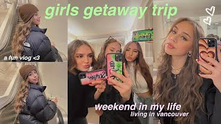 weekend trip w/ my best friends! get ready with us, taking insta pics, dinner, + shopping! 💌