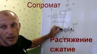 1-01-1 Внутренние усилия в стержневых конструкциях, способ определения. Сопротивление материалов.