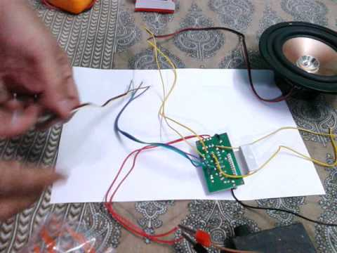 home audio speaker wiring diagram chevy radio diagrams assembling of amplifier board, ic 6283 - youtube