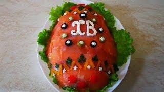 Салат на ПАСХУ Пасхальный салат со слабосоленой семгой Салат на праздничный стол Салаты