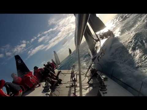 Dramatic TP52 Sailboat Racing Crash - Gladiator vs Sled