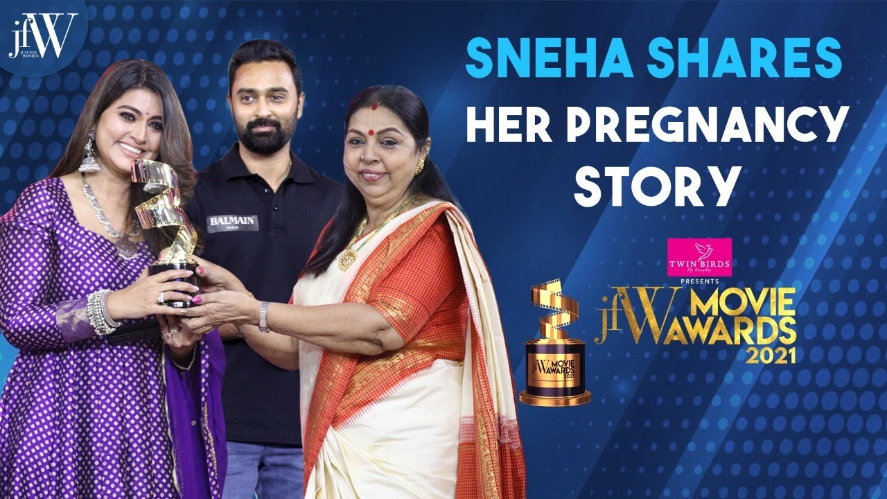 Download Sneha shares her pregnancy story   Prasanna    Best Actress Critic   JFW Movie Awards 2021