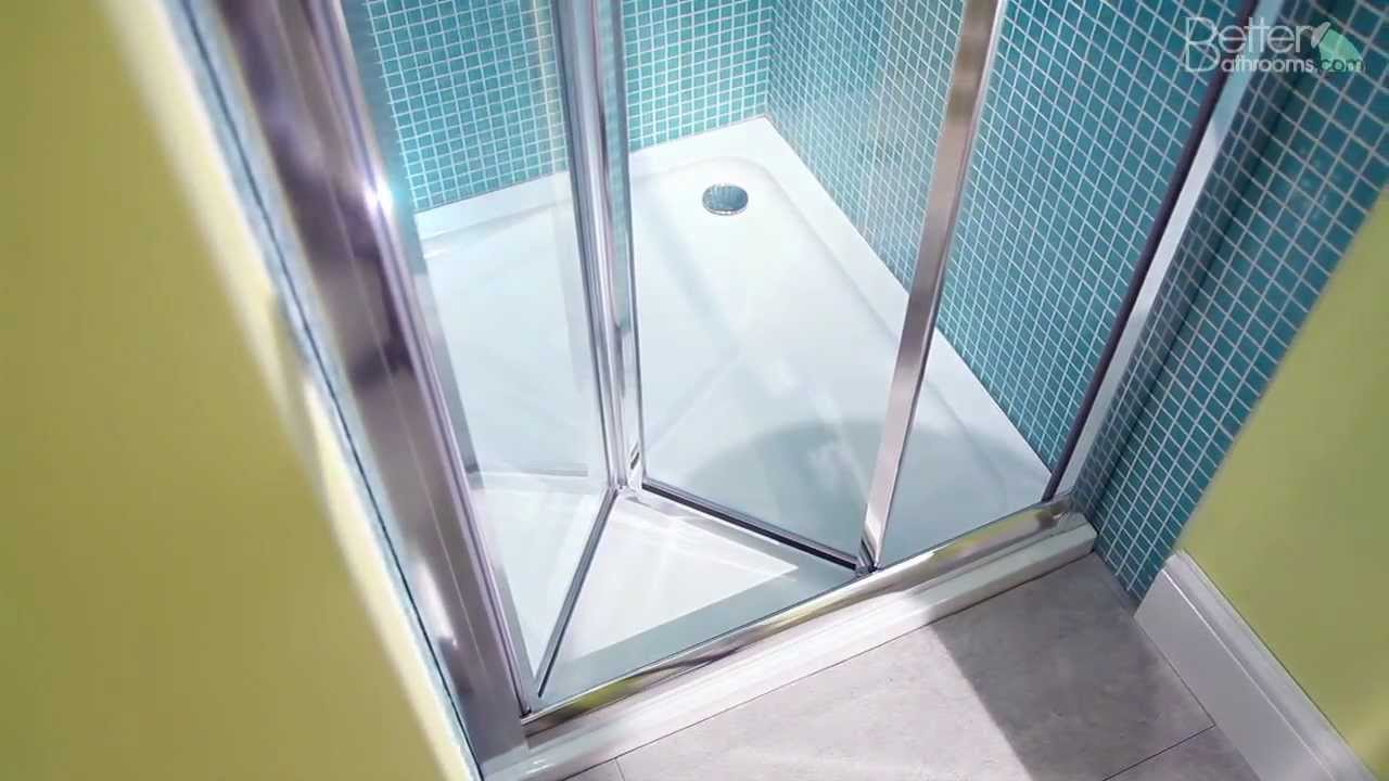 Aquafloe 760 Bi Fold Shower Door Youtube